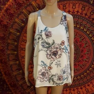 Maurices floral oversized flowy tank top size XL